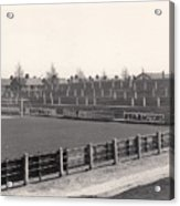 Tranmere Rovers - Prenton Park - Bebington Kop End 1 - Bw - 1967 Acrylic Print