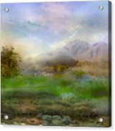 Tranquil Alpine Village Acrylic Print