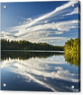 Tranquil Lake In Finland Acrylic Print