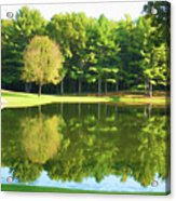 Tranquil Landscape At A Lake 2 Acrylic Print