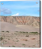 Tranquil Qinghai Desert Mountain In China Acrylic Print
