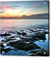 Tranquil Sunrise At Coral Cove Beach Acrylic Print