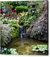 Tranquility In A Japanese Garden Acrylic Print
