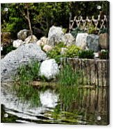 Tranquility In The Japanese Garden Acrylic Print