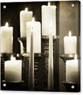 Tranquility Of Candlelight Acrylic Print
