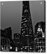 Trans American Building At Night Acrylic Print