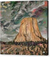 Transcendental Devils Tower Acrylic Print