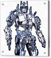 Transformers Optimus Prime Or Orion Pax Graphic  Acrylic Print
