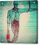 Transfusion Uninterrupted Acrylic Print by Paulo Zerbato