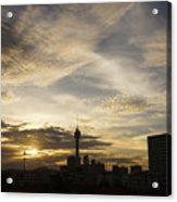 Transpicuous Balcony Sunset #0010 Acrylic Print