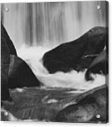 Trap Falls In Ashby Ma Black And White 6 Acrylic Print