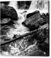 Trap Falls In Ashby Ma Black And White 9 Acrylic Print