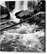 Trap Falls In Ashby Ma Black And White 1 Acrylic Print