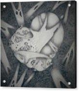Corrupted Heart Acrylic Print