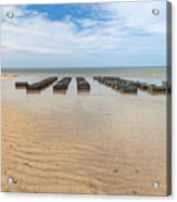 Traps At Low Tide Acrylic Print