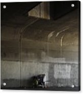 Trash Under Bridge. Acrylic Print