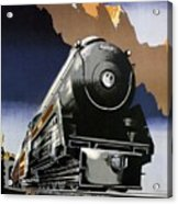 Travel Canadian Pacific Across Canada - Steam Engine Train - Retro Travel Poster - Vintage Poster Acrylic Print