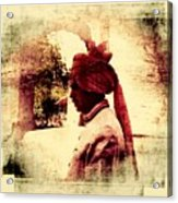 Travel Exotic Headgear Waiter Portrait Mehrangarh Fort India Rajasthan 2a Acrylic Print