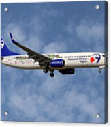 Travel Service Boeing 737-8cx Acrylic Print