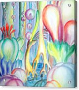Travel To Planet Of Ball-shaped Flowers Acrylic Print