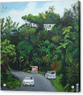 Traveling In Adjuntas Mountains Acrylic Print