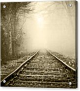 Traveling On The Tracks Antique Acrylic Print