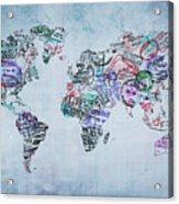 Traveler World Map Acrylic Print