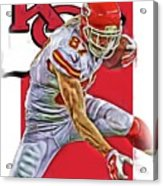 Travis Kelce Kansas City Chiefs Oil Art Acrylic Print