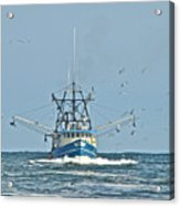 Trawler Homeward Bound Acrylic Print