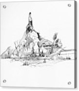 Treasure and the rock Acrylic Print