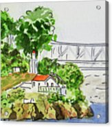 Treasure Island - California Sketchbook Project  Acrylic Print