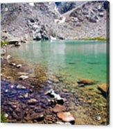 Treasure Lake 3 Rocky Shoreline Acrylic Print