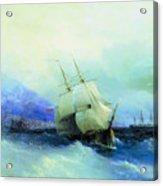 Trebizond From The Sea 1875 61h94 Ivan Konstantinovich Aivazovsky Acrylic Print