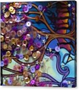 Tree And Face Of Beauty Acrylic Print