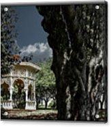 Tree And Gazebo Acrylic Print