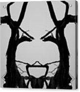 Tree Face I Bw Sq Acrylic Print