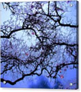 Tree Fantasy In Blue Acrylic Print