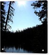 Tree-framed Lake Acrylic Print