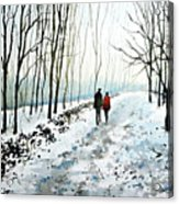 Tree Lined Stroll Acrylic Print