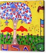 Tree Of Freedom And Glory Acrylic Print
