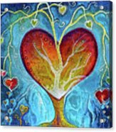 Tree Of Hearts Acrylic Print