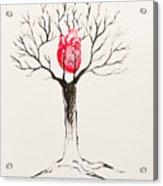 Tree Of Hearts Acrylic Print