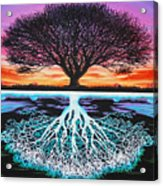 Tree Of Life And Negative Acrylic Print by Brian Schuster