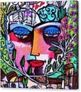 Tree Of Life Face Acrylic Print
