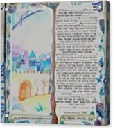 tree of life ketubah -Conservative version Acrylic Print