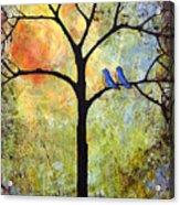 Tree Painting Art - Sunshine Acrylic Print by Blenda Studio