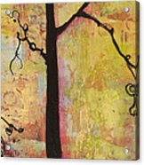 Tree Print Triptych Section 2 Acrylic Print by Blenda Studio