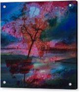 Tree Splat Fragmented Acrylic Print