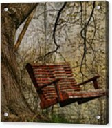 Tree Swing By The Lake Acrylic Print