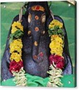 Tree Temple Ganesha, Valparai Acrylic Print
